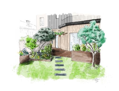 Jardin d'échoppe : convivial et végétal